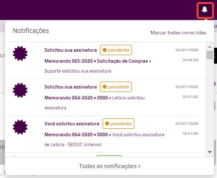 Ícone de notificação