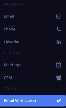Email verification button