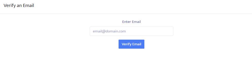 Enter email to verify