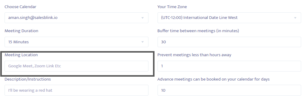 Change the meeting location