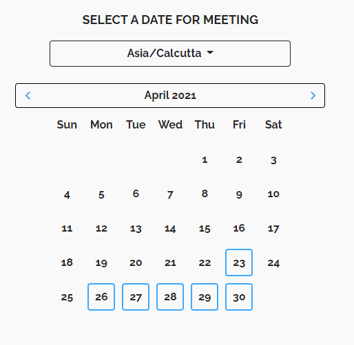 Meetings page