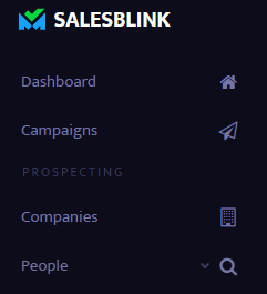 """Select """"People"""" under the prospecting section"""